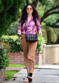 Jessica Gomes shows off her retro style while making a grocery run in West Hollywood, California