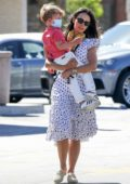 Jordana Brewster stepped out with her son for a trip to the pharmacy in Brentwood, California