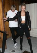 Josie Canseco and Logan Paul seen leaving after dinner at Nice Guy in Los Angeles