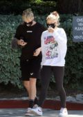 Josie Canseco heads to the gym with Logan Paul in Encino, California