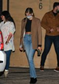 Kaia Gerber looks stylish as she exits Nobu after having dinner with friends in Malibu, California