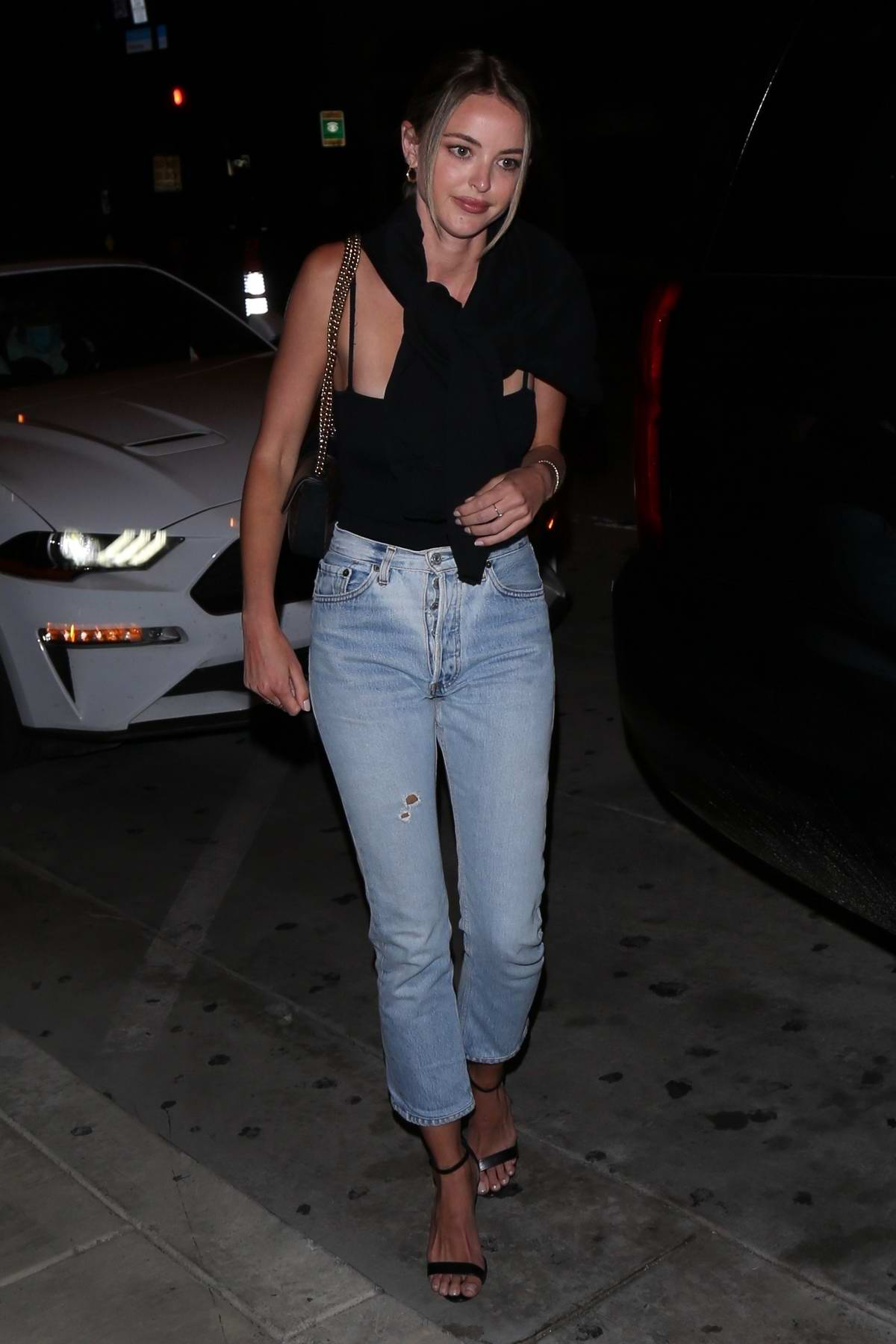 Kaitlynn Carter looks casually chic as she arrives at Catch restaurant in West Hollywood, California