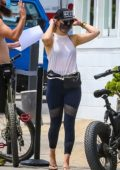 Kate Hudson enjoys a bike ride with Danny Fujikawa in Malibu, California