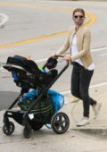 Kate Mara takes a stroll to the park with her baby in Silver Lake, California