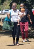 Kate Mara takes her baby to the park in Los Feliz, California