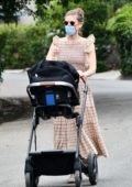 Kate Mara takes her daughter out for a stroll through her neighborhood in Los Feliz, California