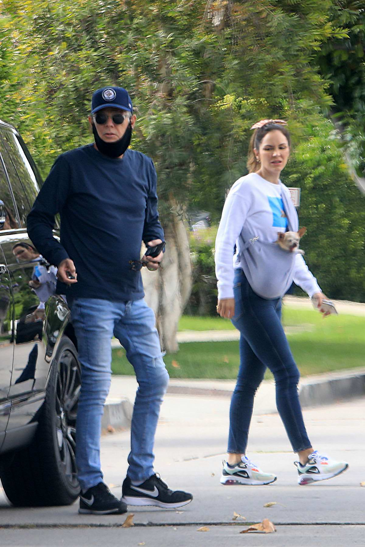 Katharine McPhee and David Foster seen heading out in Los Angeles