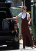 Katherine Schwarzenegger and Chris Pratt seen cleaning up their car in Los Angeles