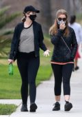 Katherine Schwarzenegger and Maria Shriver step out for a stroll in Santa Monica, California