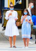 Katie Holmes and Suri Cruise step out for a stroll after lunch in New York City
