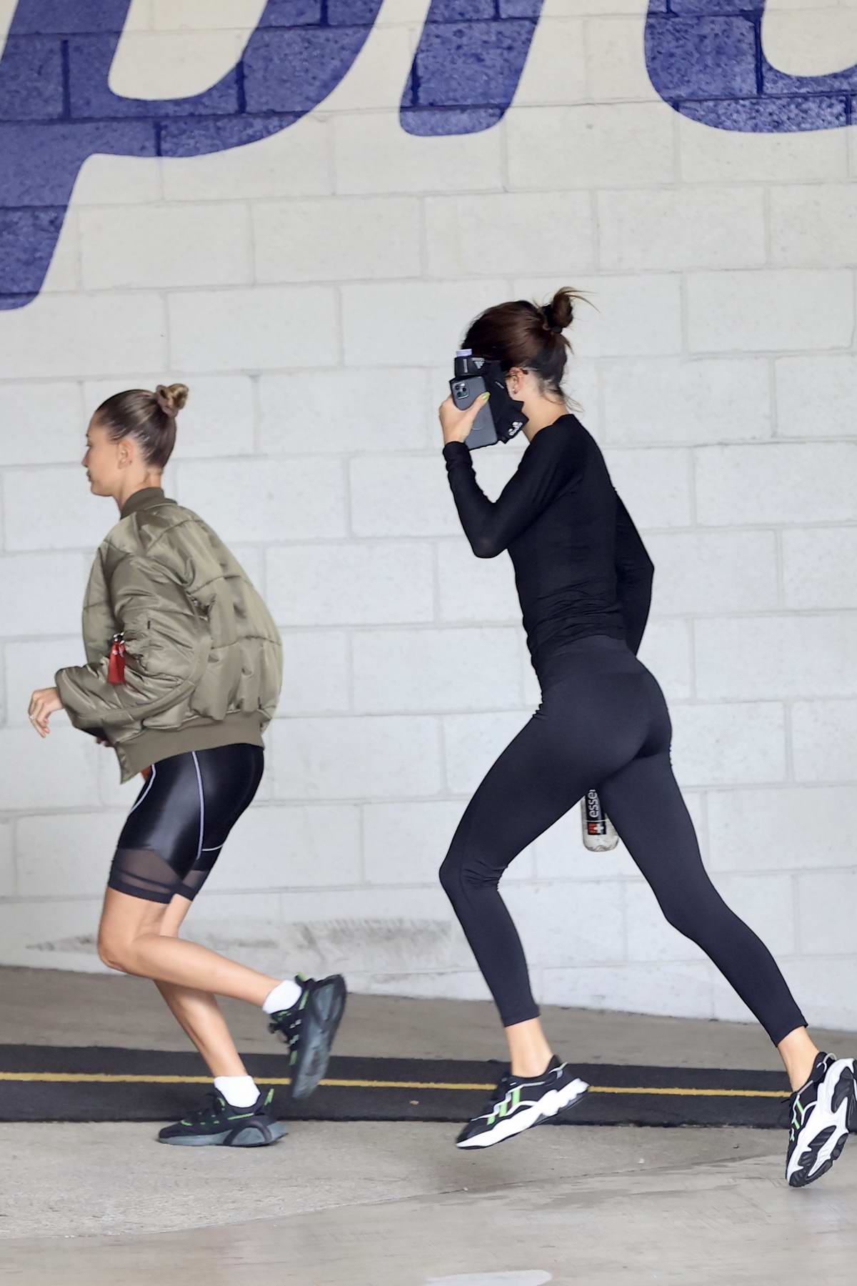 Kendall Jenner and Hailey Bieber hit the gym together in Beverly Hills, California