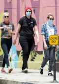 Kristen Stewart heads to the 'Black Lives Matter' protest with girlfriend Dylan Meyer in Hollywood, California
