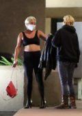 Lady Gaga seen leaving a restaurant with boyfriend Michael Polansky in Malibu, California
