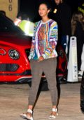 Lais Ribeiro and Joakim Noah enjoy a family dinner at Nobu in Malibu, California