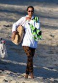 Lais Ribeiro enjoys a day at the beach with fiance Joakim Noah in Malibu, California