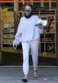 Madison Beer keeps it casual in grey sweats as she picks up a few essentials at CVS in Malibu, California