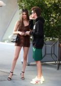 Nicolette Gray and her rumored boyfriend go on a dinner date at Il Pastaio in Beverly Hills, California