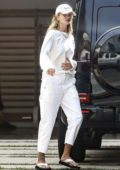 Rosie Huntington-Whiteley seen arriving home after stepping out in Beverly Hills, California