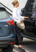 Rosie Huntington-Whiteley spotted leaving a skin care clinic in Beverly Hills, California