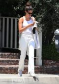 Sara Sampaio dons all white as she steps out for shopping at Ben Soleimani store in West Hollywood, California
