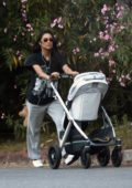 Shay Mitchell takes her baby and her dog out for stroll in Los Angeles