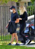 Sophie Turner sports all-black as she steps out with Joe Jonas in Los Angeles