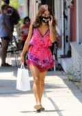 Vanessa Hudgens is pretty in pink while out to grab her lunch to go in Los Angeles