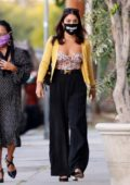 Vanessa Hudgens spotted out for dinner with her mom at Italian eatery Trattoria Farfalla in Los Angeles
