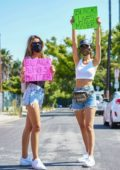 Victoria Justice and Madison Reed take part in 'Black Lives Matter' protest in Los Angeles