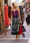 Victoria Silvstedt goes shopping with boyfriend Maurice Dabbah before relaxing on a yacht in Saint Tropez, France