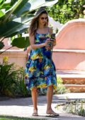 Alessandra Ambrosio and Jamie Mazur check out a house for sale next door to her house in Santa Monica, California