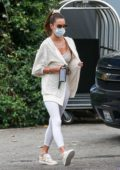 Alessandra Ambrosio keeps it casual yet stylish as she heads for a spa session at The Bel Air Hotel in Los Angeles