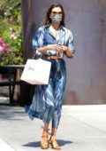 Alessandra Ambrosio looks gorgeous in a blue tie-dye dress while out for some shopping after lunch in Los Angeles