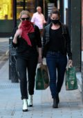 Amber Heard and girlfriend Bianca Butti shop for groceries at Whole Foods in London, UK