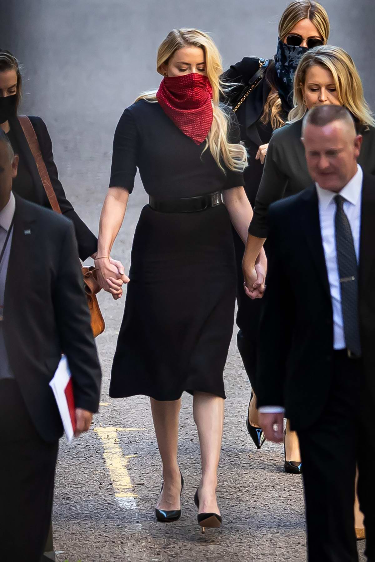 Amber Heard seen outside the High Court during day 1 and 2 of Johnny Depp's libel case in London, UK