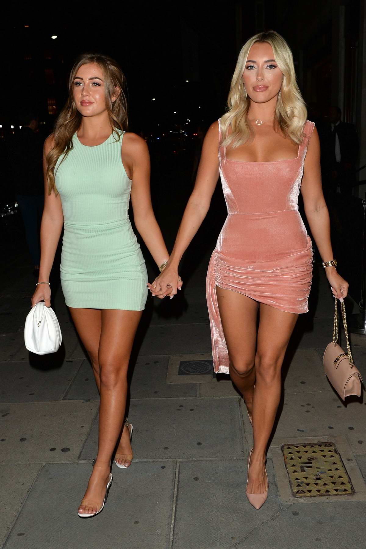 Amber Turner and Georgia Steel step out to celebrate Amber's birthday at Sumosan Twiga in London, UK