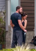 Ana de Armas and Ben Affleck pack on some PDA while out for some fresh air in Venice, California