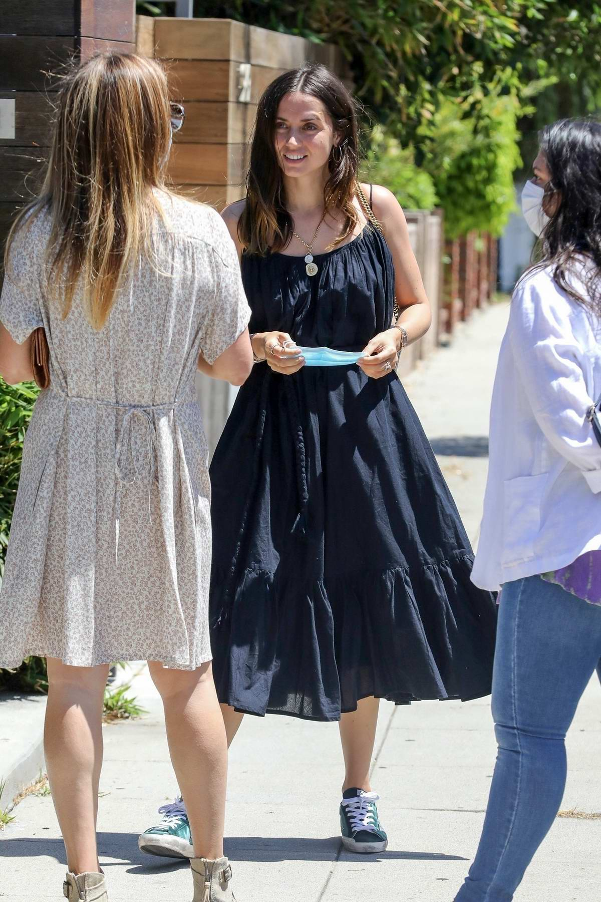 Ana de Armas and Ben Affleck stop by a friend's place ahead of the 4th of July weekend in Los Angeles