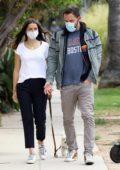 Ana de Armas takes her dog for a walk with Ben Affleck in Venice, California