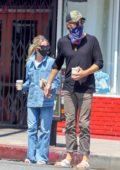 Annabelle Wallis and Chris Pine step out for an afternoon coffee run in Los Angeles