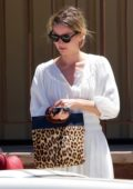 Annabelle Wallis looks radiant in a white sundress during a coffee run with Chris Pine in Los Angeles