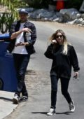 Ashley Benson and G-Eazy get their mail as they return home after spending time with some friends in Los Angeles