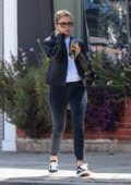 Ashley Benson sports a leather jacket and jeans while out running a few errands in Los Angeles