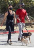 Ashley Greene and husband Paul Khoury enjoy a hike with their dogs in West Hollywood, California