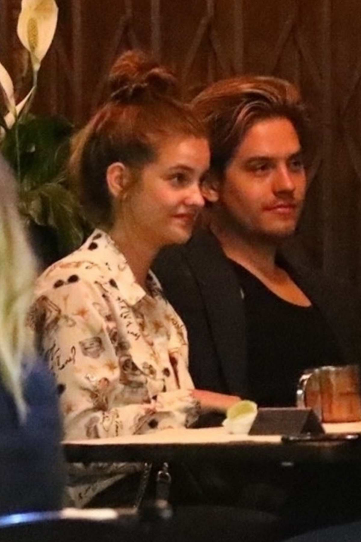 Barbara Palvin and Dylan Sprouse enjoy dinner with friends in Los Feliz, California