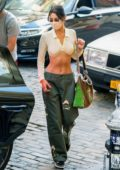 Bella Hadid shows off her perfect abs in a crop top while stepping out in New York City