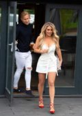 Bianca Gascoigne and Kris Boyson are seen heading out on their first real date in Faversham, Kent, UK