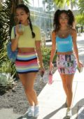 Chantel Jeffries and Cindy Kimberly put on some colorful display as they step out for lunch in West Hollywood, California