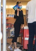 Charlotte McKinney picks up some toilet paper and a few essentials at CVS in Santa Monica, California