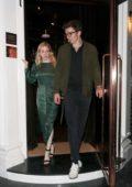 Ellie Goulding and Caspar Jopling enjoy a night out at Casa Cruz restaurant in Notting Hill, London, UK